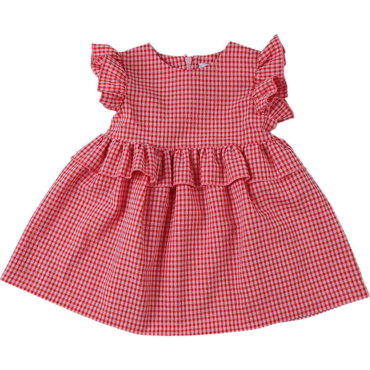 Le Petit Coco Baby Dress for Girls On Sale, Red, Cotton, 2019, 12M 18M 2Y 3M 6M