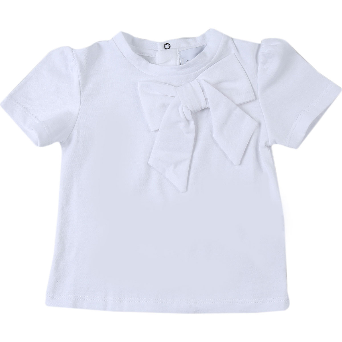 Le Petit Coco Baby T-Shirt for Girls On Sale, White, Organic Cotton, 2019, 12M 18M 2Y