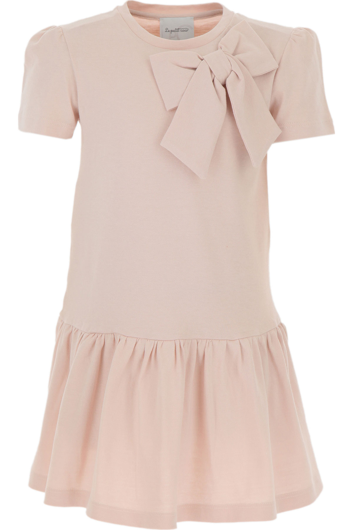 Le Petit Coco Girls Dress On Sale, Powder Pink, Organic Cotton, 2019, 3Y 4Y 6Y 8Y