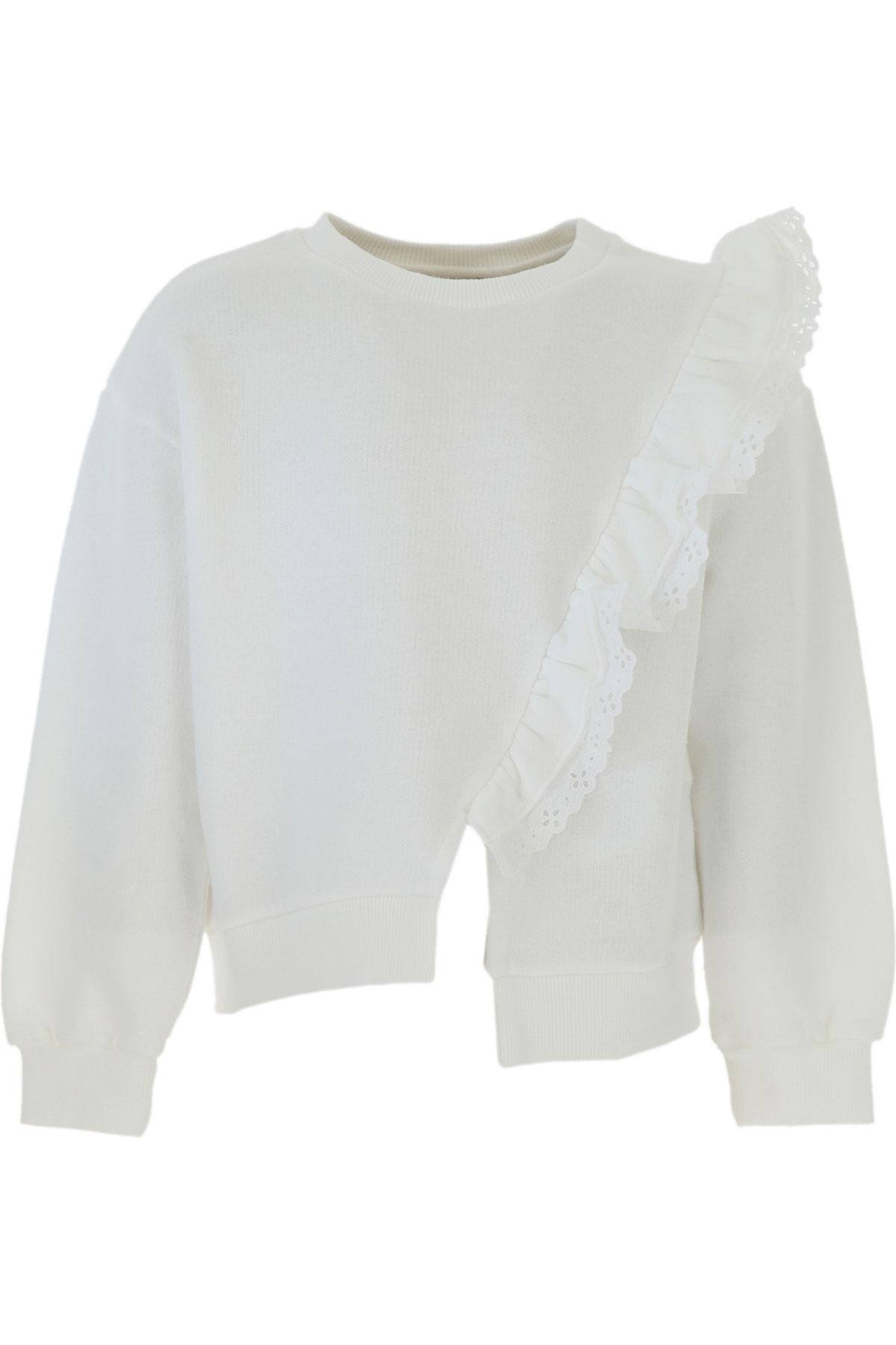 Le Petit Coco Kids Sweatshirts & Hoodies for Girls On Sale, White, Cotton, 2019, 10Y 3Y 4Y 6Y
