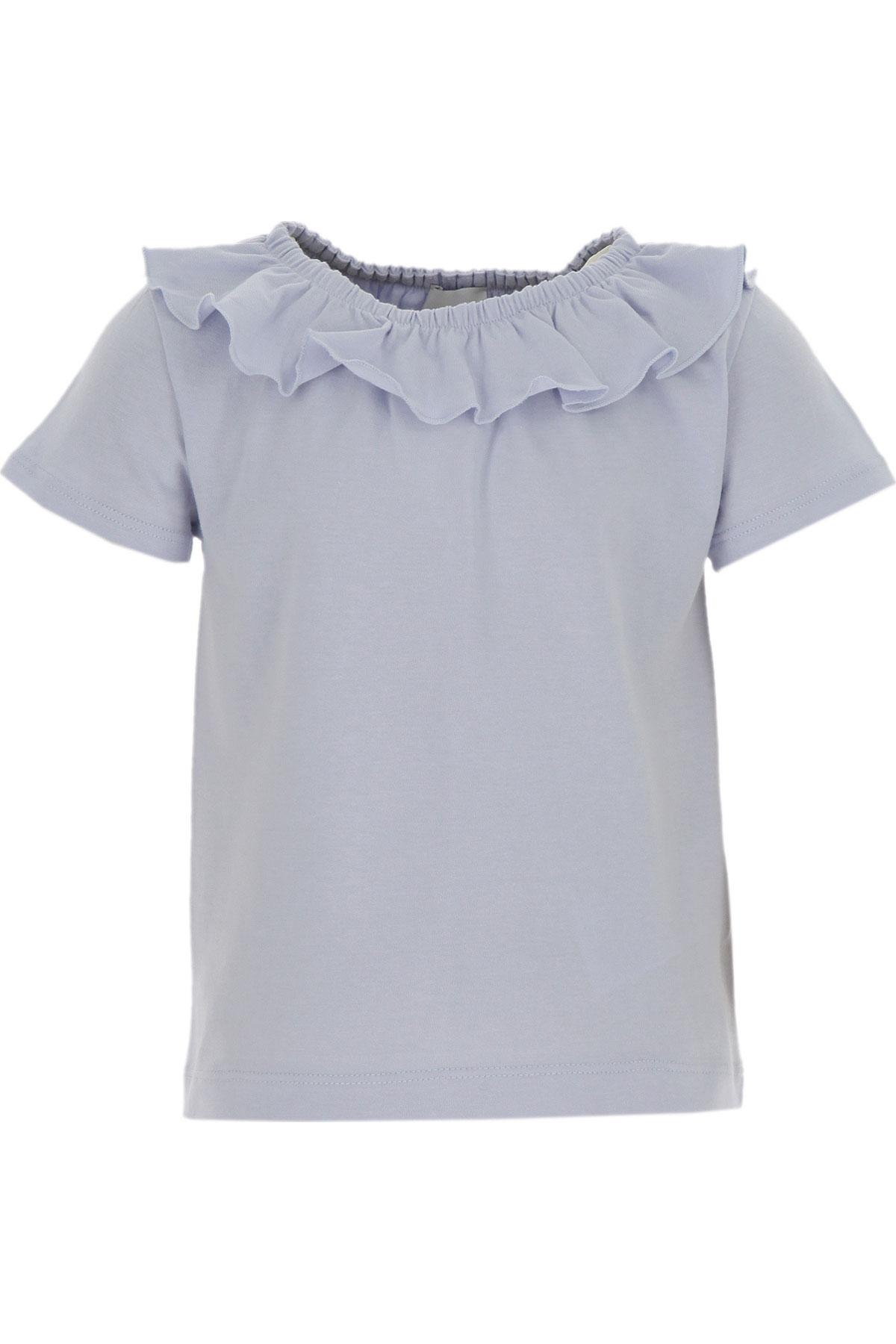 Le Petit Coco Kids T-Shirt for Girls On Sale, Light Blue, Organic Cotton, 2019, 3Y 4Y 6Y 8Y