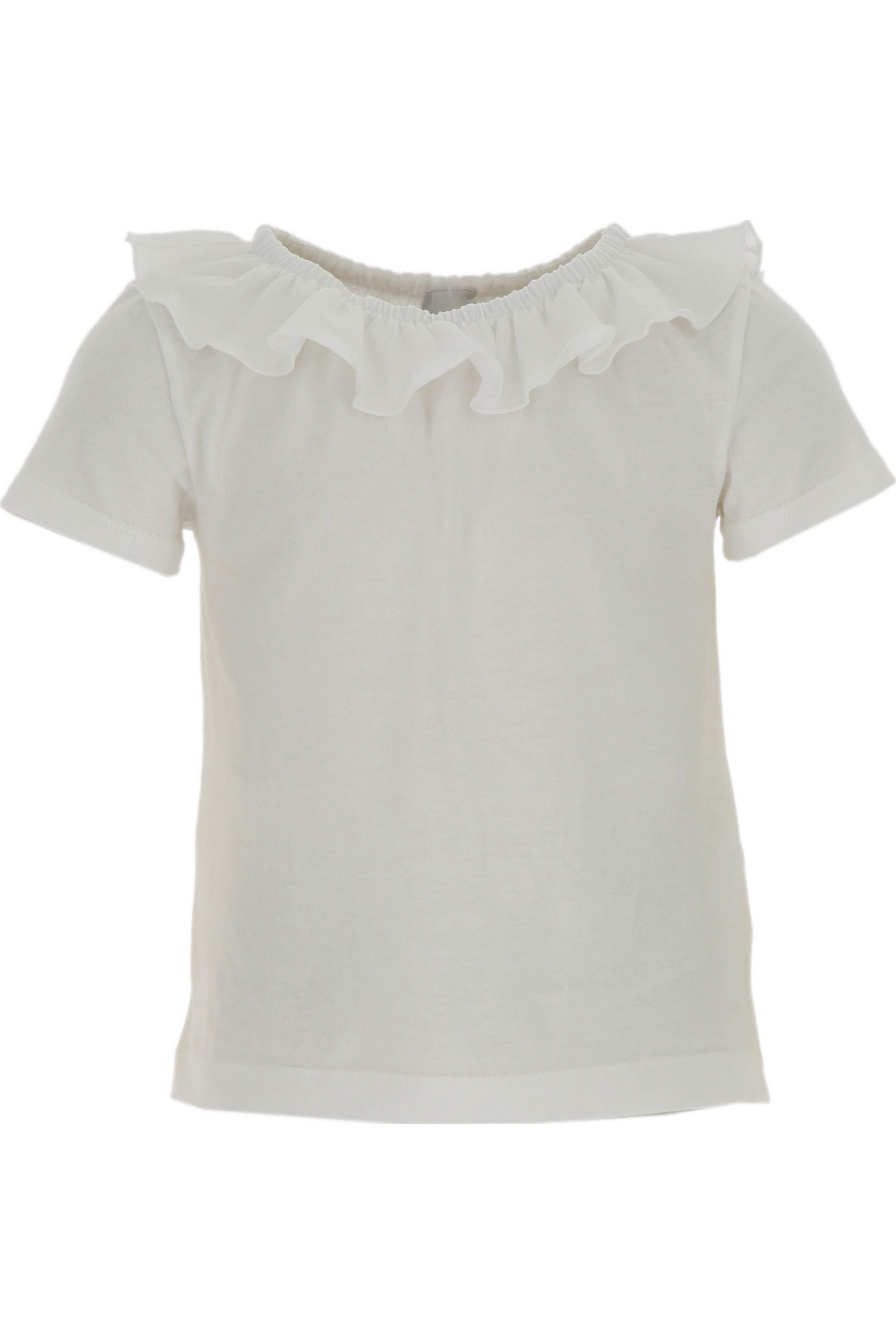 Le Petit Coco Kids T-Shirt for Girls On Sale, White, Organic Cotton, 2019, 10Y 4Y 6Y 8Y
