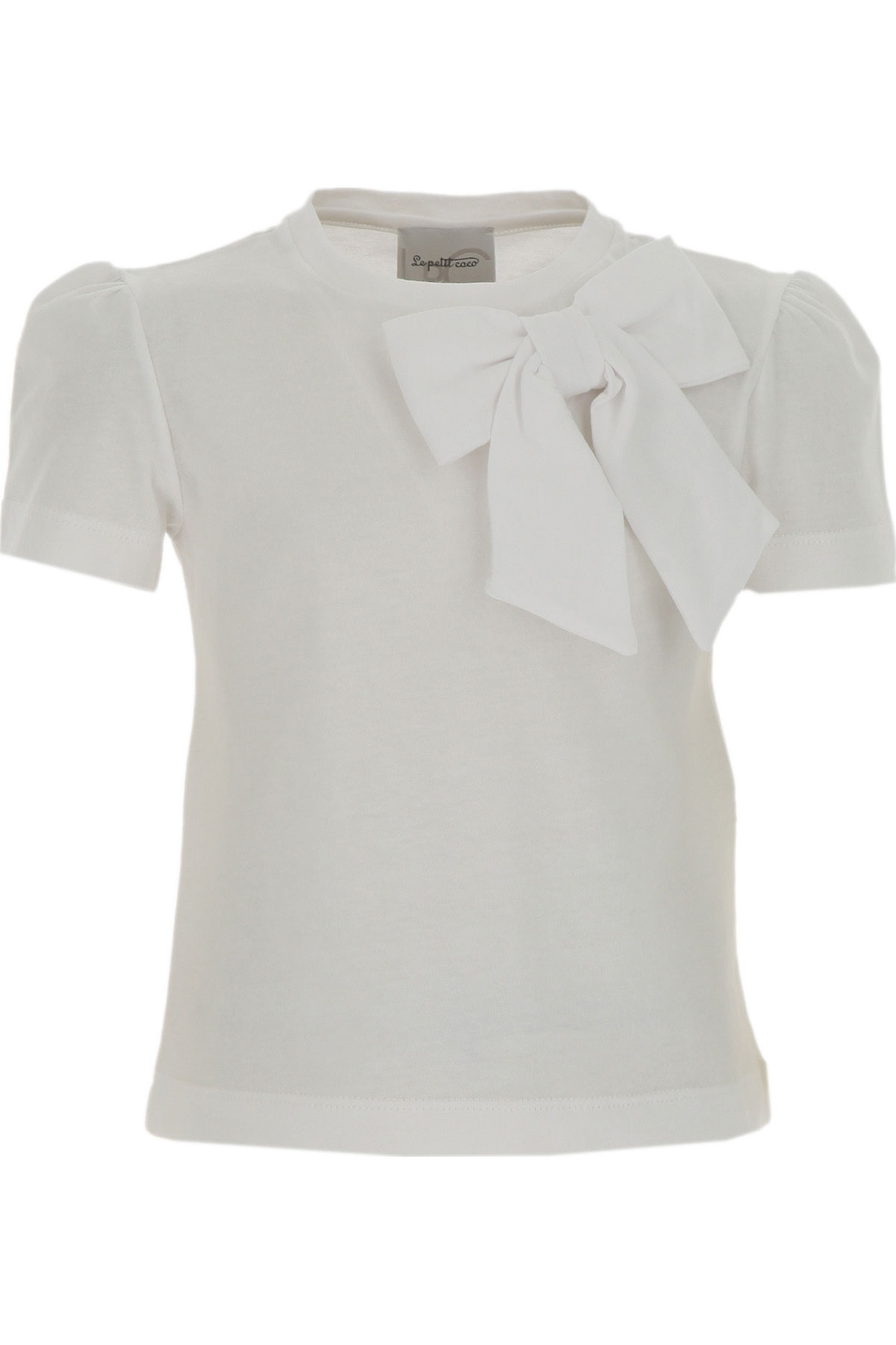 Le Petit Coco Kids T-Shirt for Girls On Sale, White, Organic Cotton, 2019, 4Y 6Y 8Y