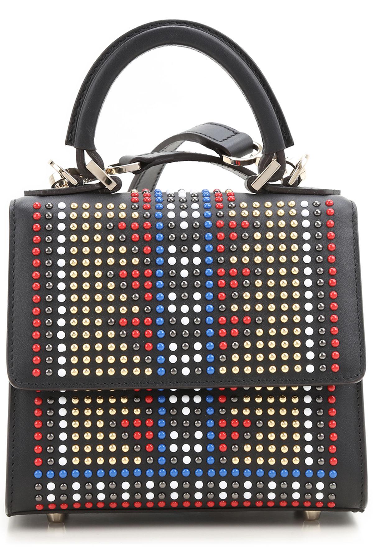 Image of Les Petits Joueurs Shoulder Bag for Women On Sale, Black, Leather, 2017