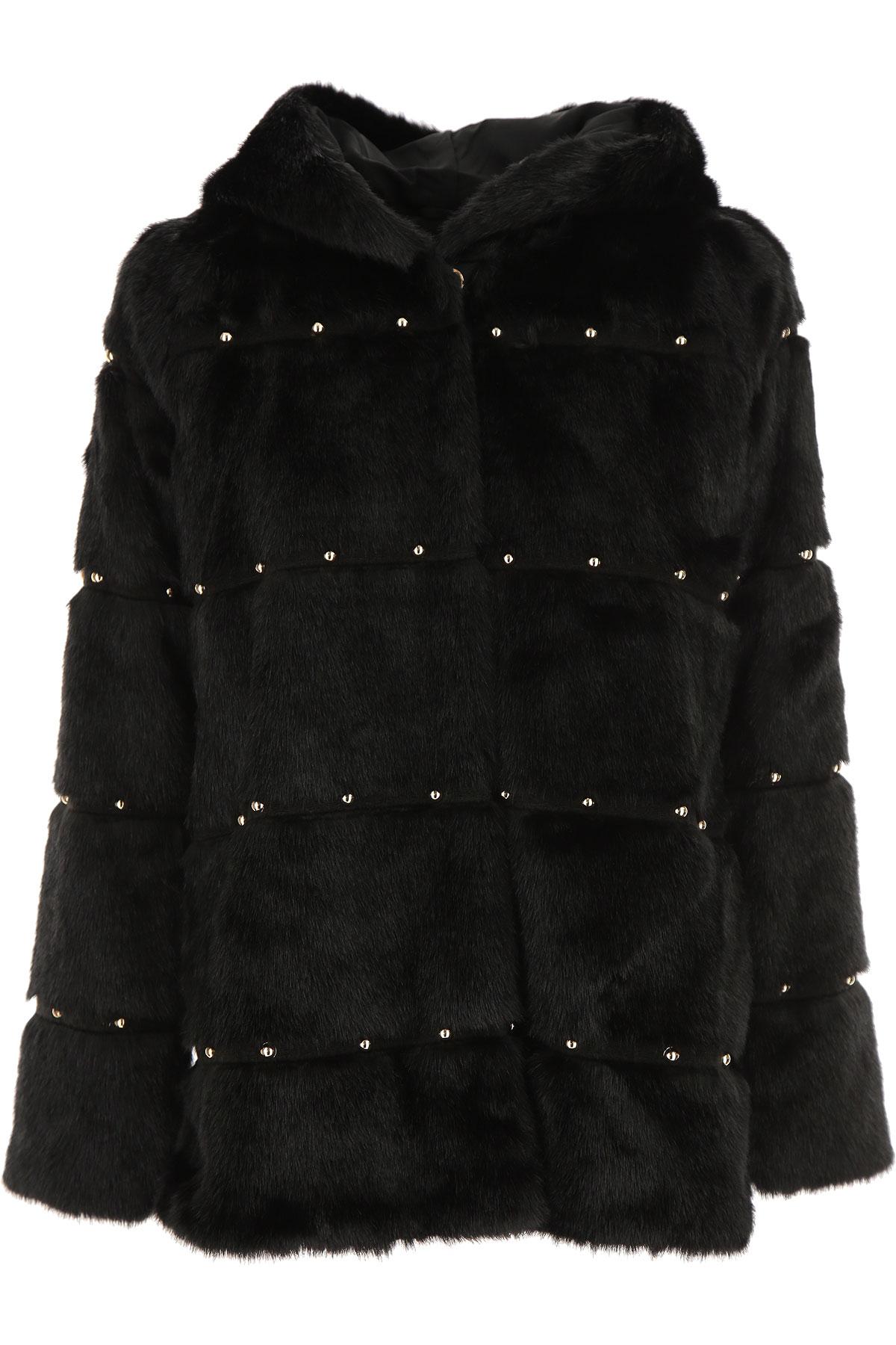 Liu Jo {DESIGNER} Kids Coat for Girls On Sale, Black, modacrylic, 2019, L (16Y) M (14Y) S (12Y)