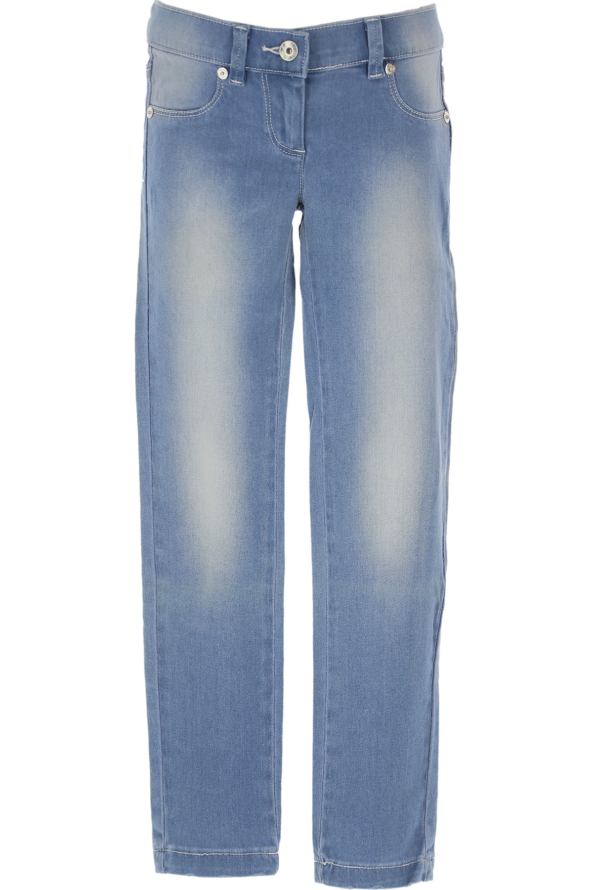 Lu - Lu Kids Jeans for Girls On Sale in Outlet, Denim Light Blue, Cotton, 2019, M S XXL