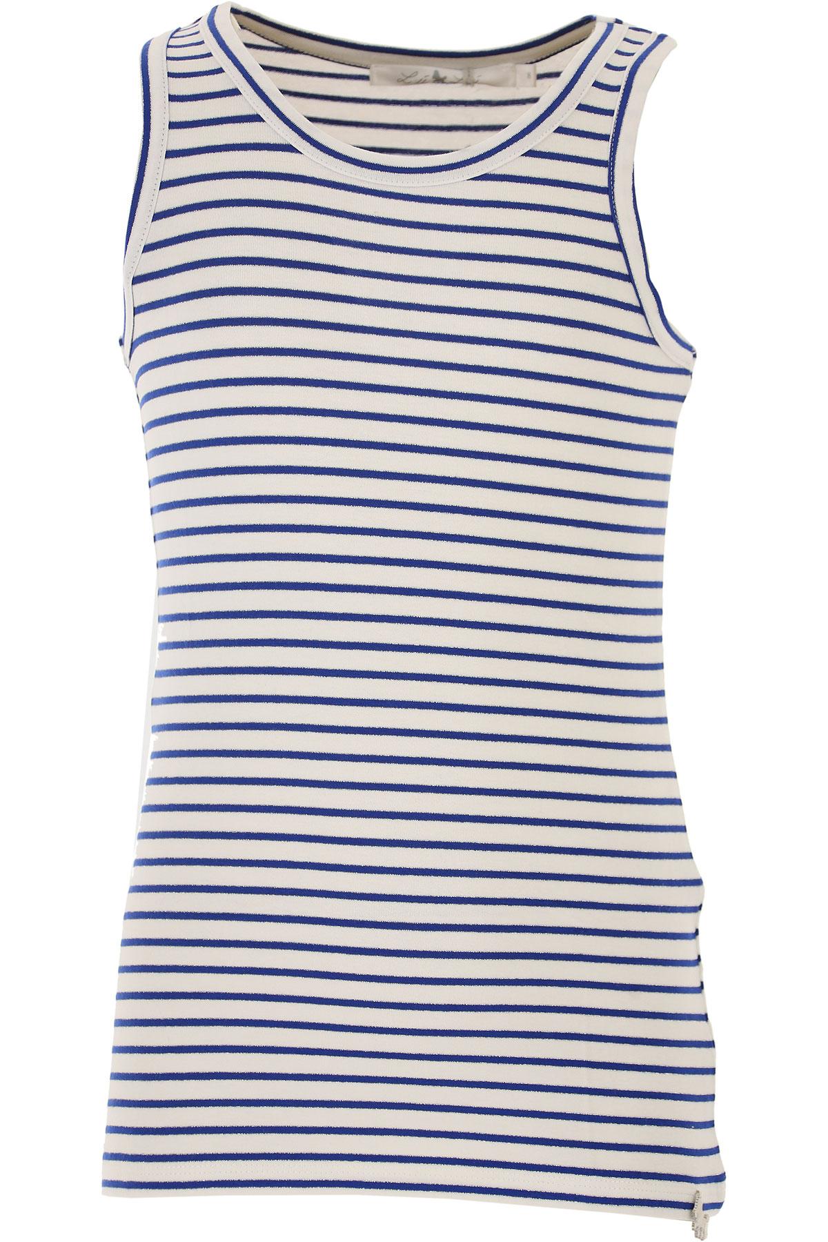 Lu - Lu T-Shirt Enfant pour Fille Pas cher en Soldes Outlet, Blanc, Coton, 2017, 8Y 9Y
