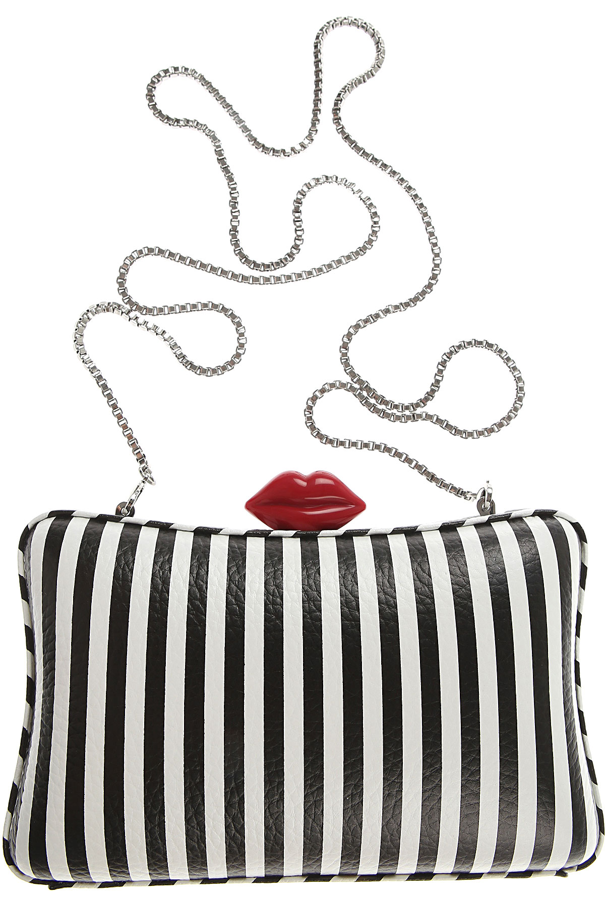 Image of Lulu Guinness Clutch Bag, White, Leather, 2017