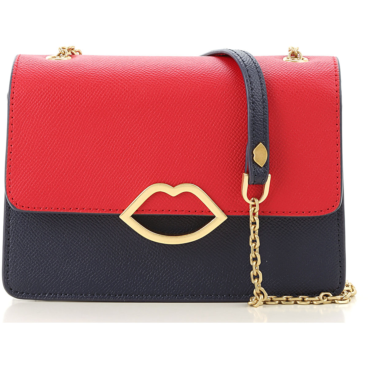 Lulu Guinness Shoulder Bag for Women On Sale, Blu Navy, Leather, 2019