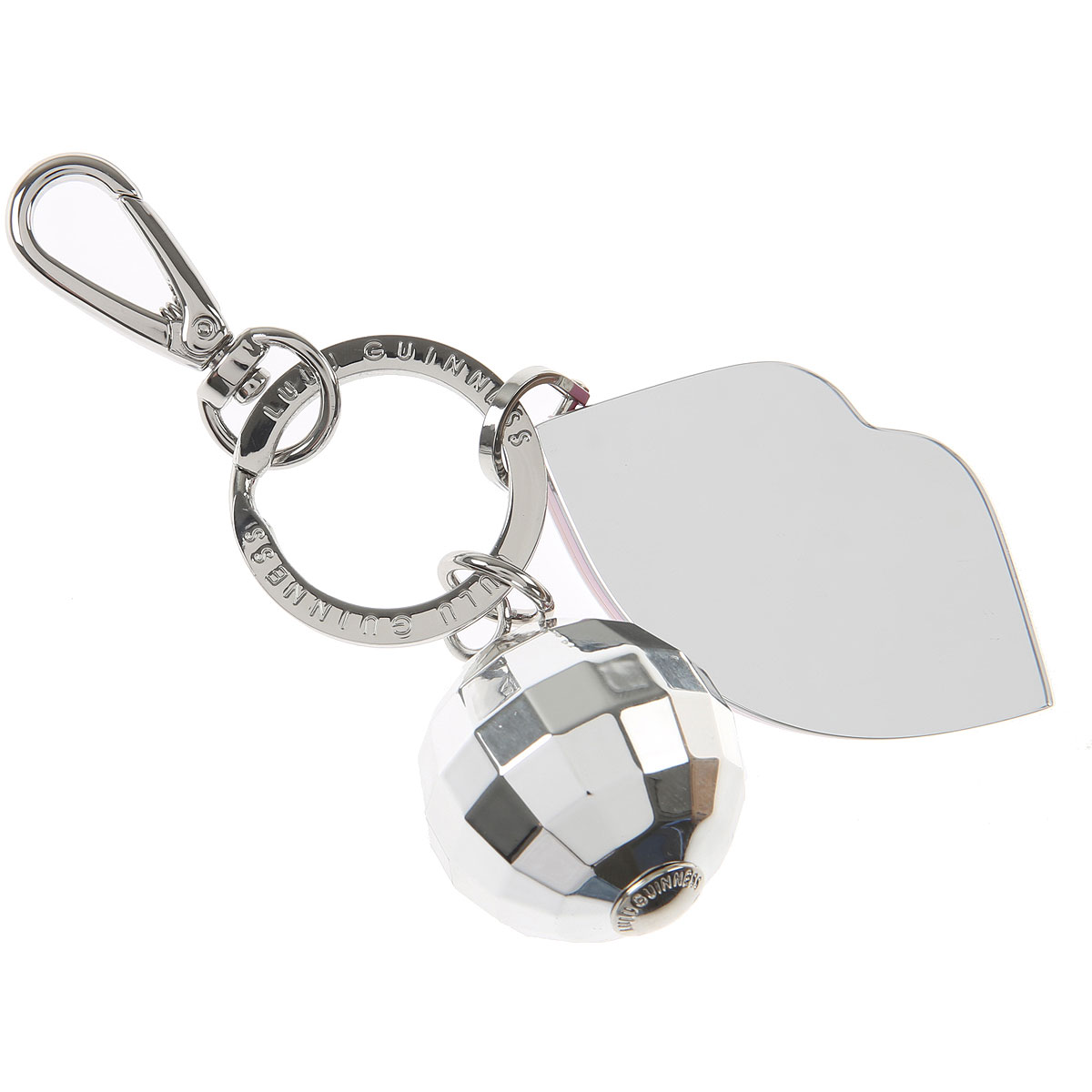 Lulu Guinness Key Chain for Women, Key Ring On Sale, Silver, perspex, 2019