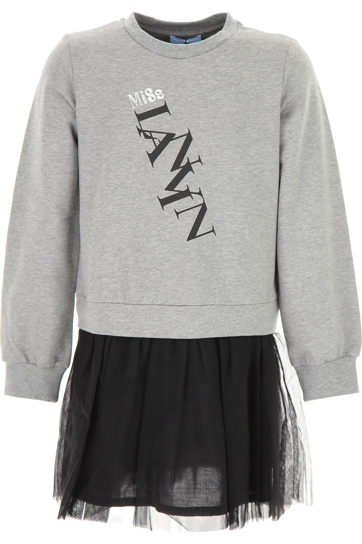 Lanvin Girls Dress On Sale, Grey, Cotton, 2019, 10Y 12Y 2Y 4Y 6Y 8Y
