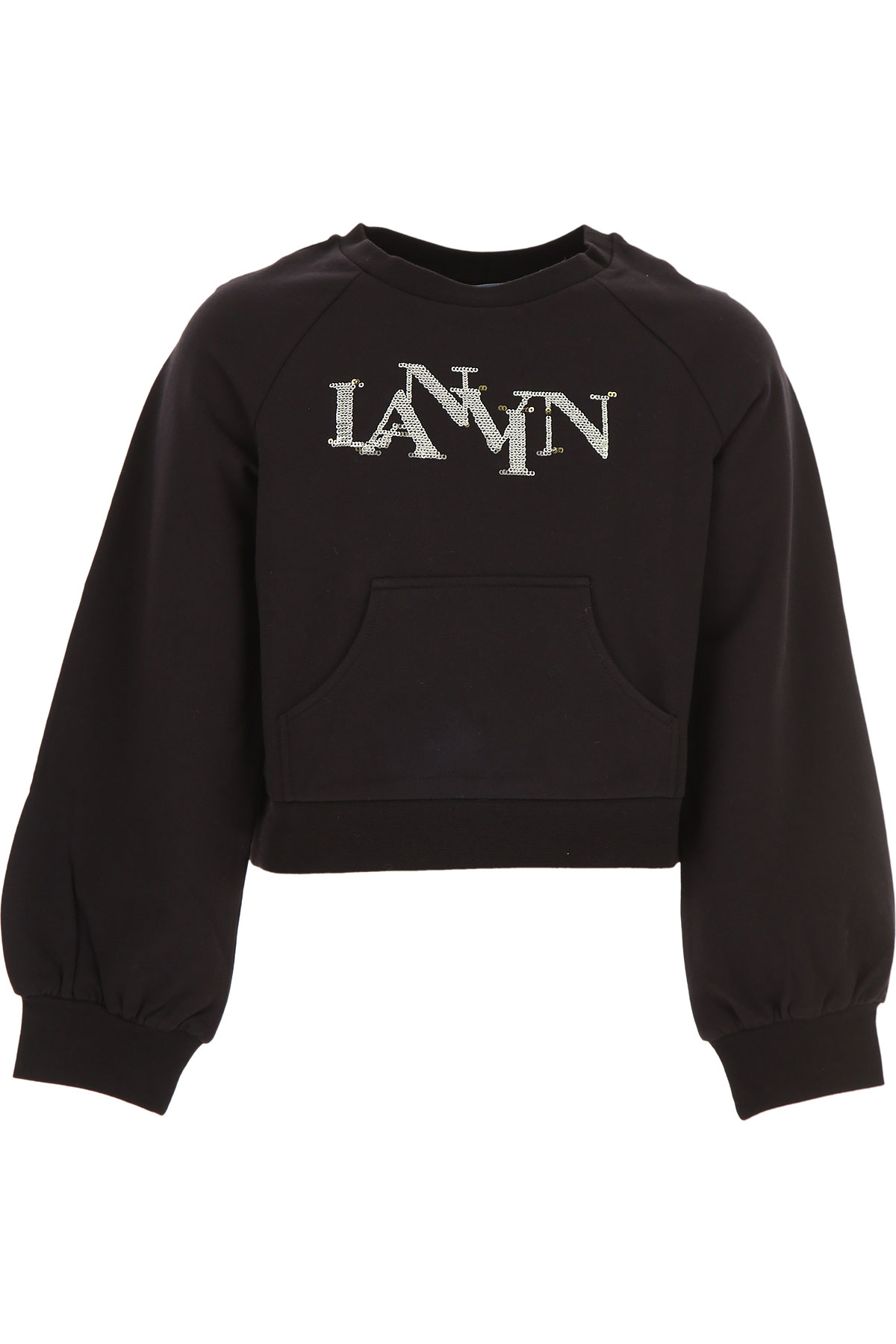 Lanvin Kids Sweatshirts & Hoodies for Girls On Sale, Black, Cotton, 2019, 10Y 12Y 8Y