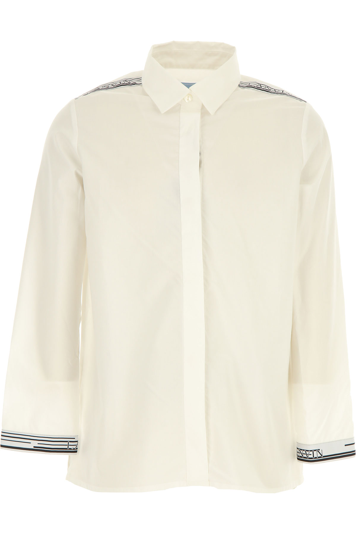 Lanvin Kids Shirts for Girls On Sale, White, Cotton, 2019, 10Y 12Y 14Y 8Y