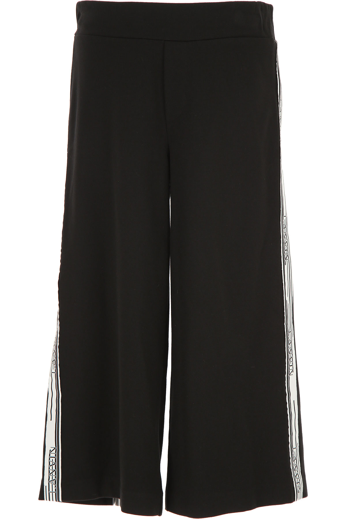 Lanvin Kids Pants for Girls On Sale, Black, viscosa, 2019, 10Y 12Y 14Y 8Y