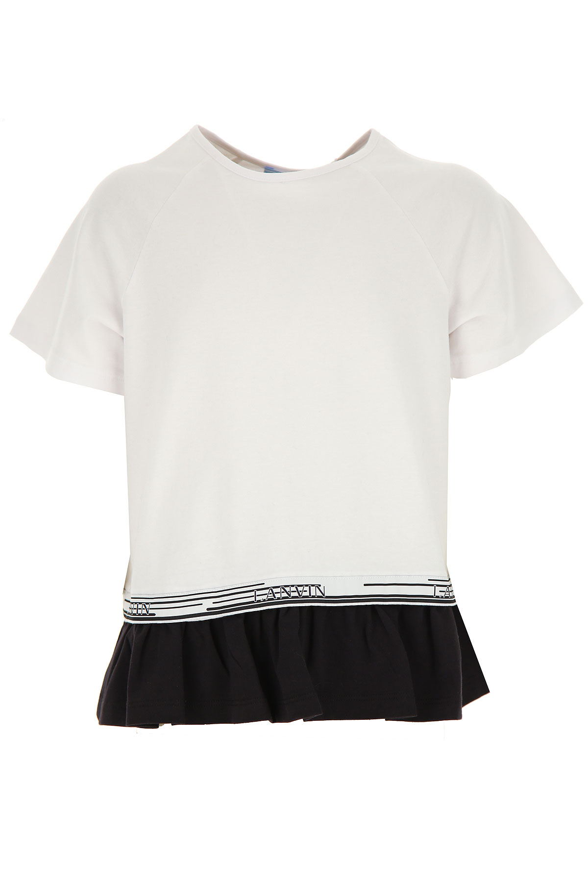 Lanvin Kids T-Shirt for Girls On Sale, White, Cotton, 2019, 10Y 12Y 2Y 4Y 6Y 8Y