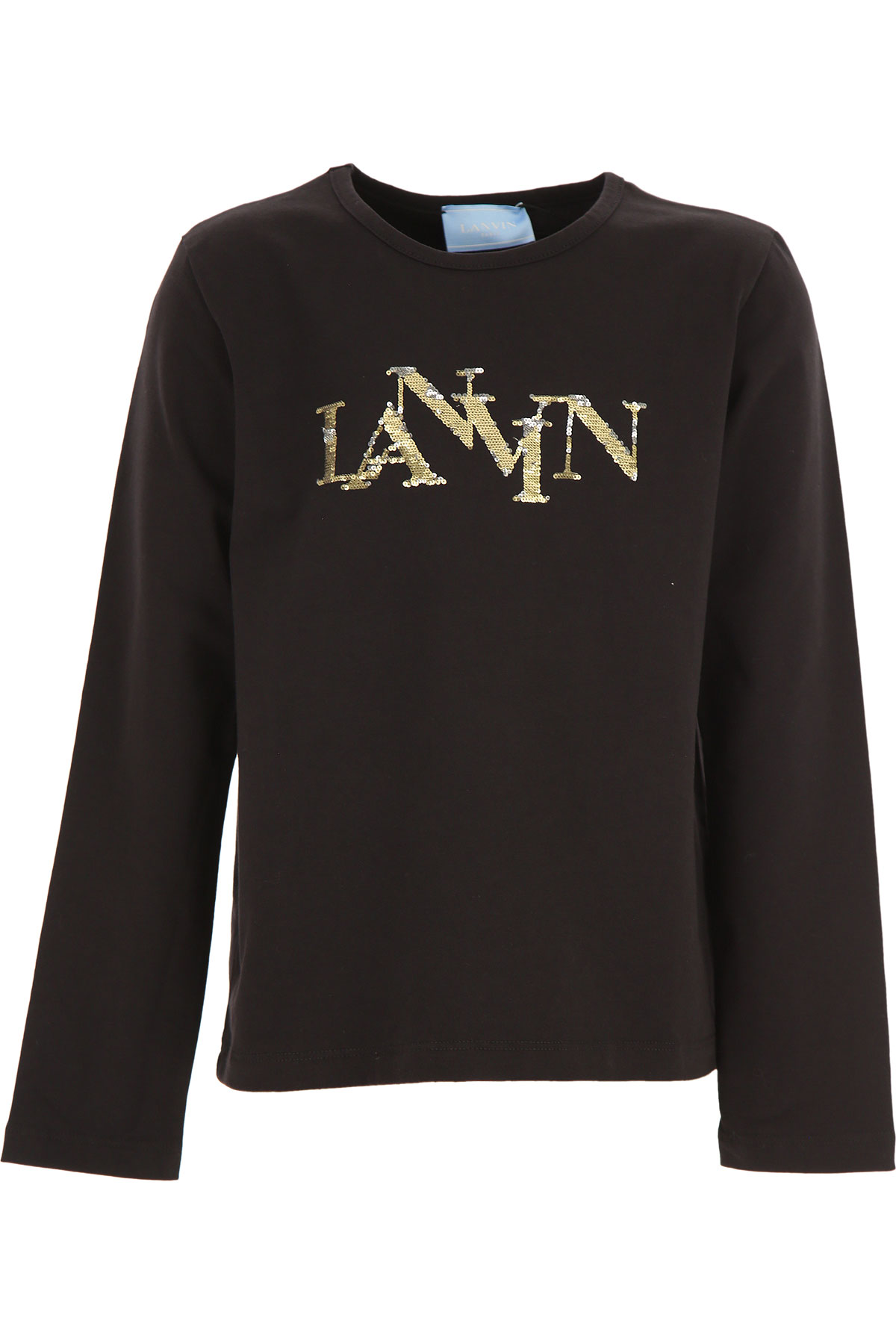 Lanvin Kids T-Shirt for Girls On Sale, Black, Cotton, 2019, 10Y 12Y 14Y 8Y