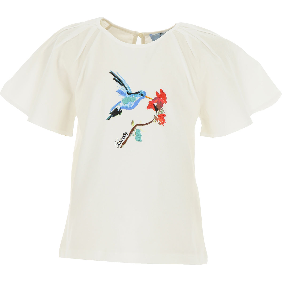 Lanvin Kids T-Shirt for Girls On Sale in Outlet, White, Cotton, 2019, 6Y 8Y