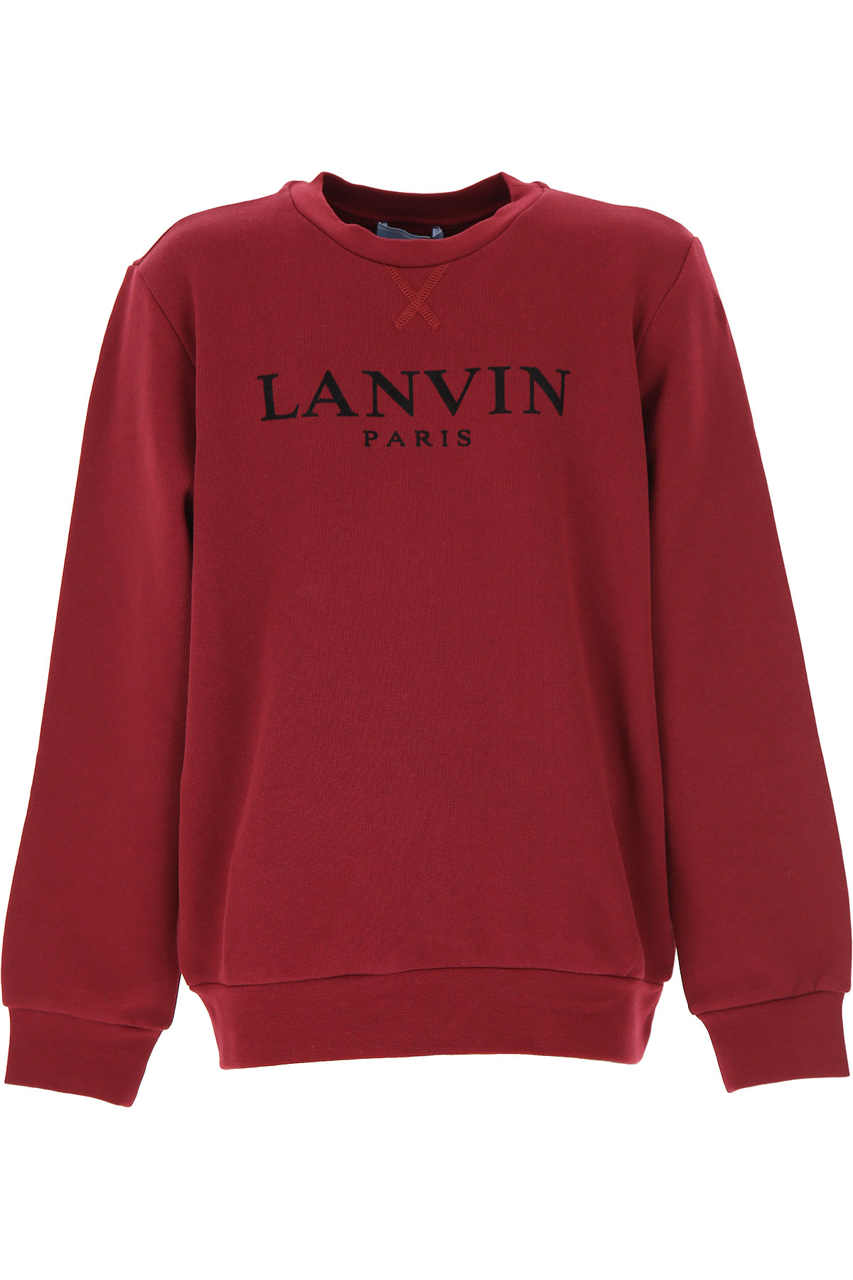 Lanvin Kids Sweatshirts & Hoodies for Boys On Sale, Bordeaux, Cotton, 2019, 10Y 12Y 14Y 6Y