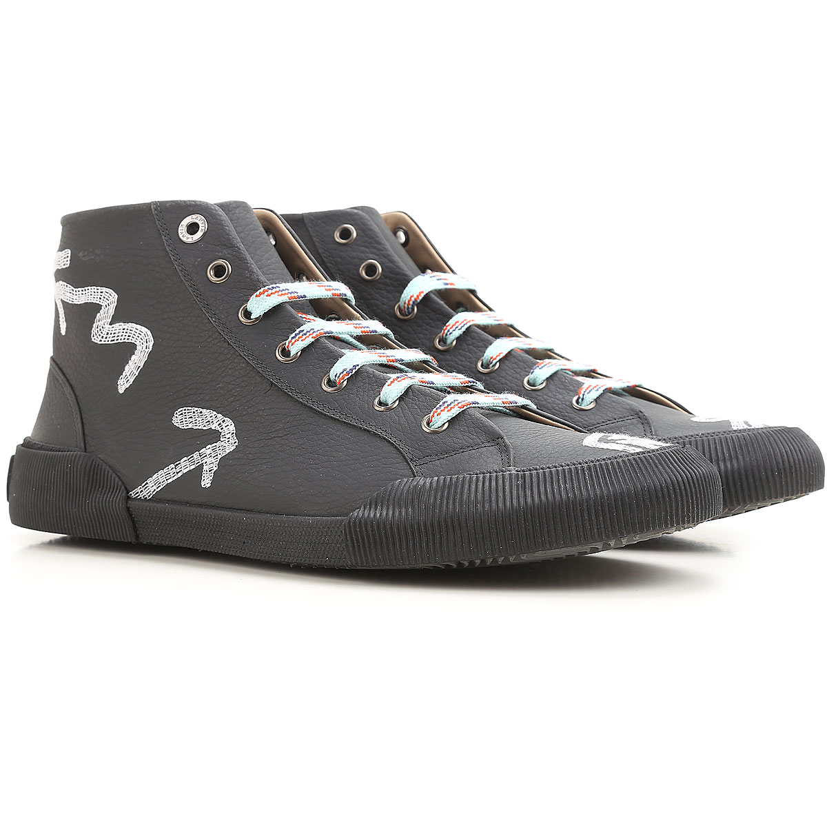 Lanvin Sneakers for Men On Sale in Outlet, Black, Leather, 2019, 6 7 8 9