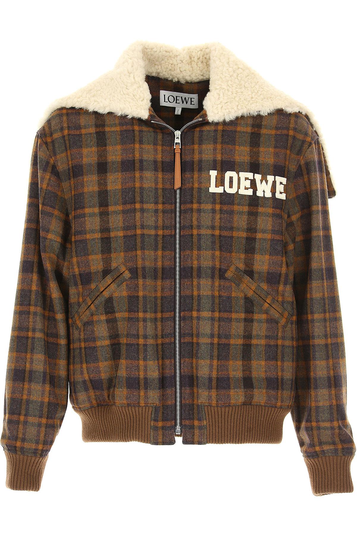Image of Loewe Jacket for Men, Brown, merino wool, 2017, M S