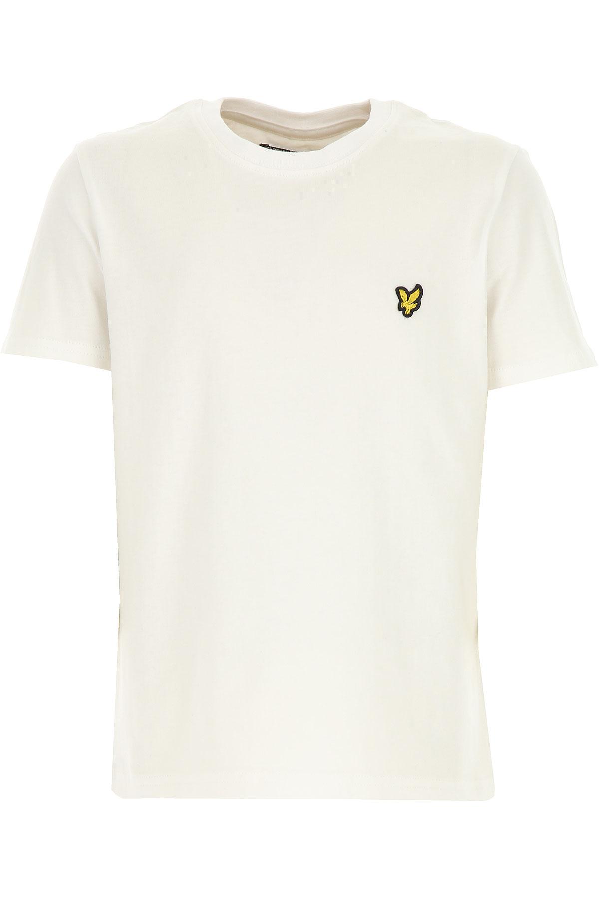 Image of Lyle & Scott Kids T-Shirt for Boys, White, Cotton, 2017, 10Y 8Y