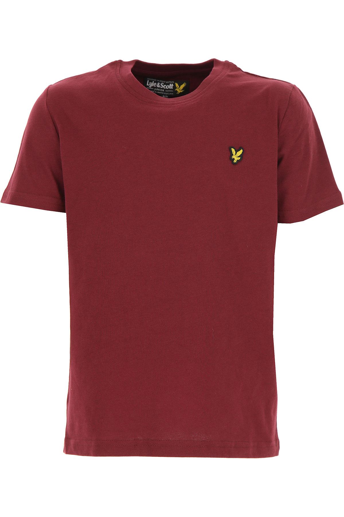 Image of Lyle & Scott Kids T-Shirt for Boys, Bordeaux, Cotton, 2017, 10Y 14Y 8Y