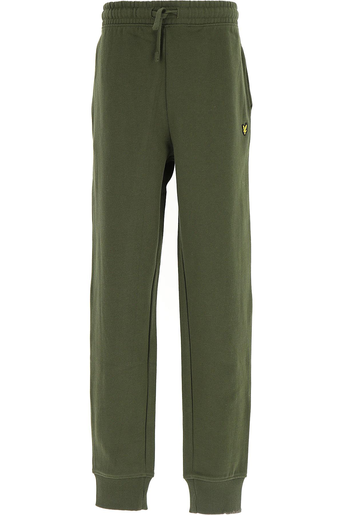 Image of Lyle & Scott Kids Sweatpants for Boys, Green, Cotton, 2017, 10Y 14Y 8Y