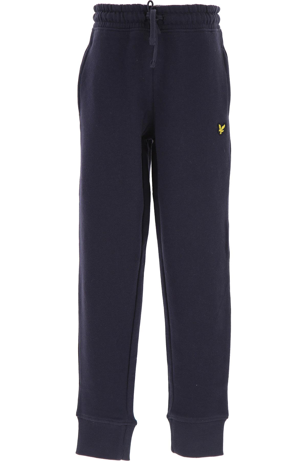 Image of Lyle & Scott Kids Sweatpants for Boys, Blue, Cotton, 2017, 10Y 14Y