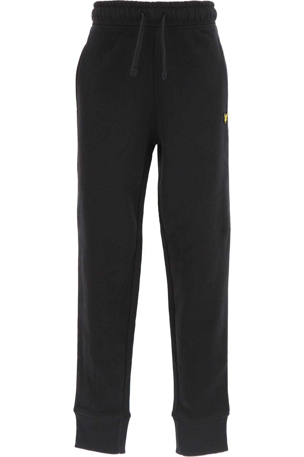 Image of Lyle & Scott Kids Sweatpants for Boys, Black, Cotton, 2017, 10Y 14Y