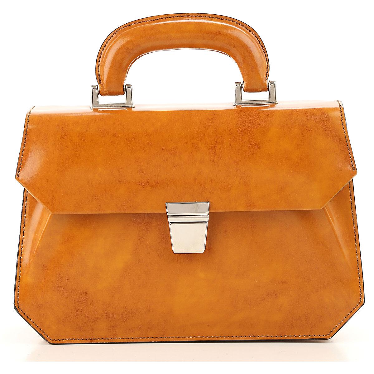 Image of Raffaello Top Handle Handbag On Sale in Outlet, Deep Orange, Leather, 2017