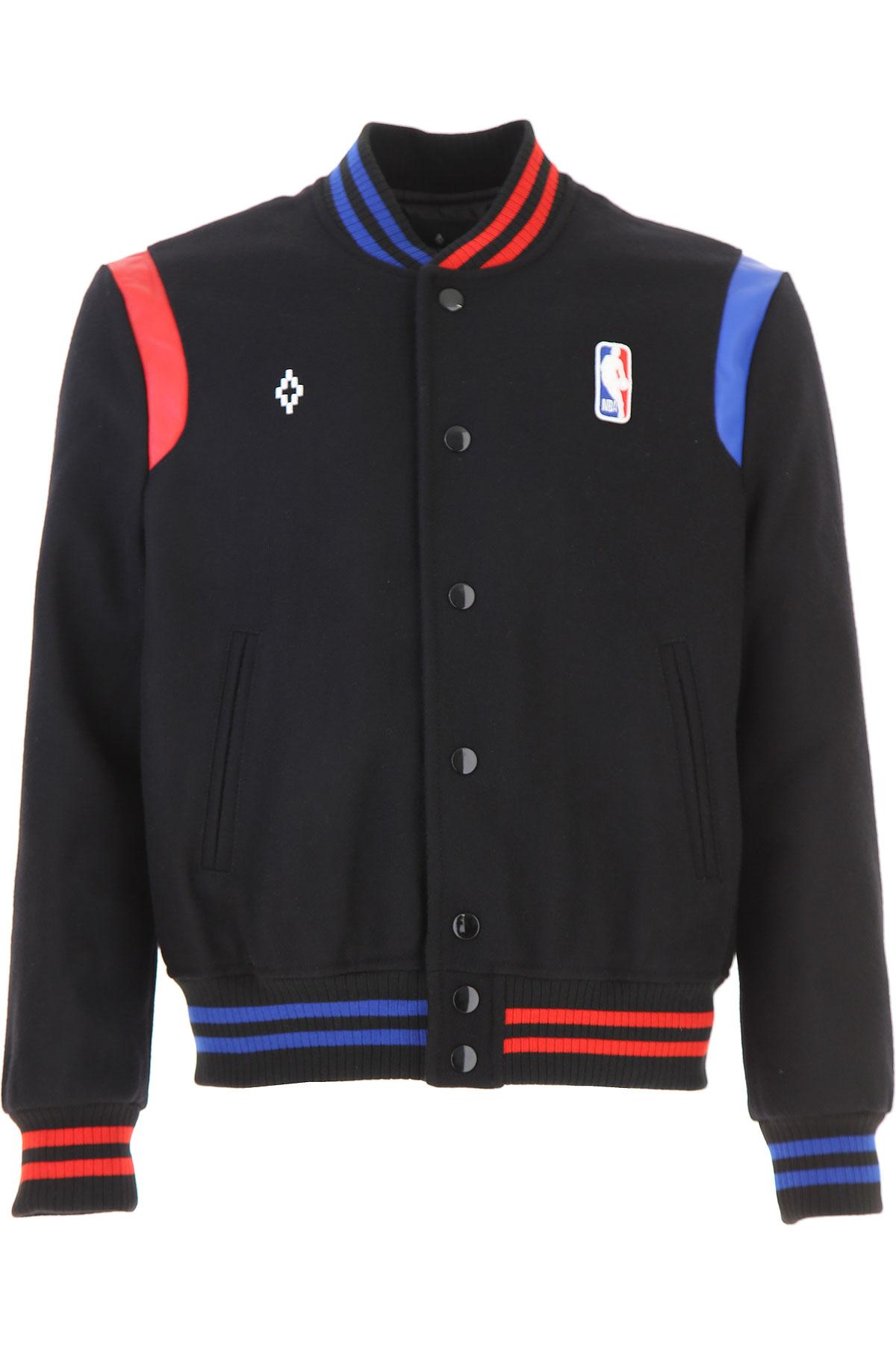 Marcelo Burlon Jacket for Men On Sale, Nba, Black, Wool, 2019, L S