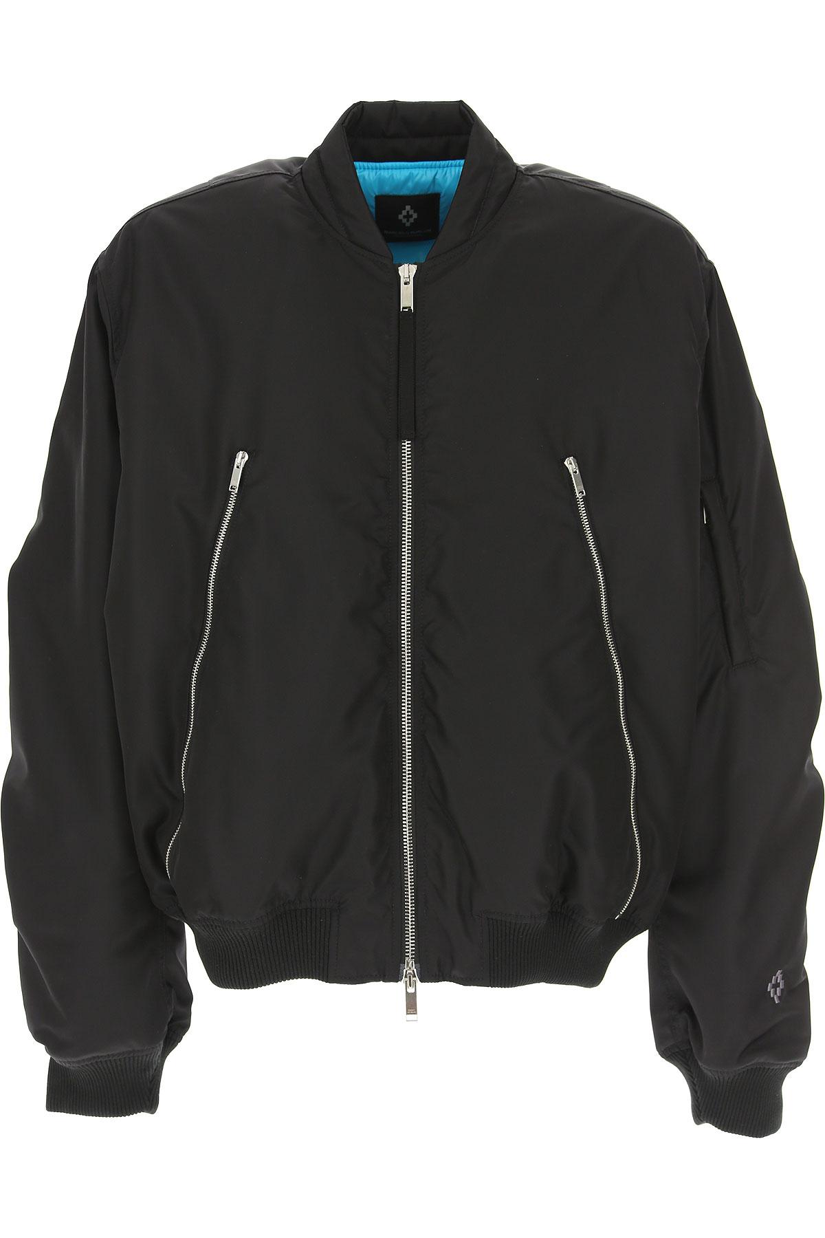 Marcelo Burlon Down Jacket for Men, Puffer Ski Jacket On Sale, Black, polyestere, 2019, L M S