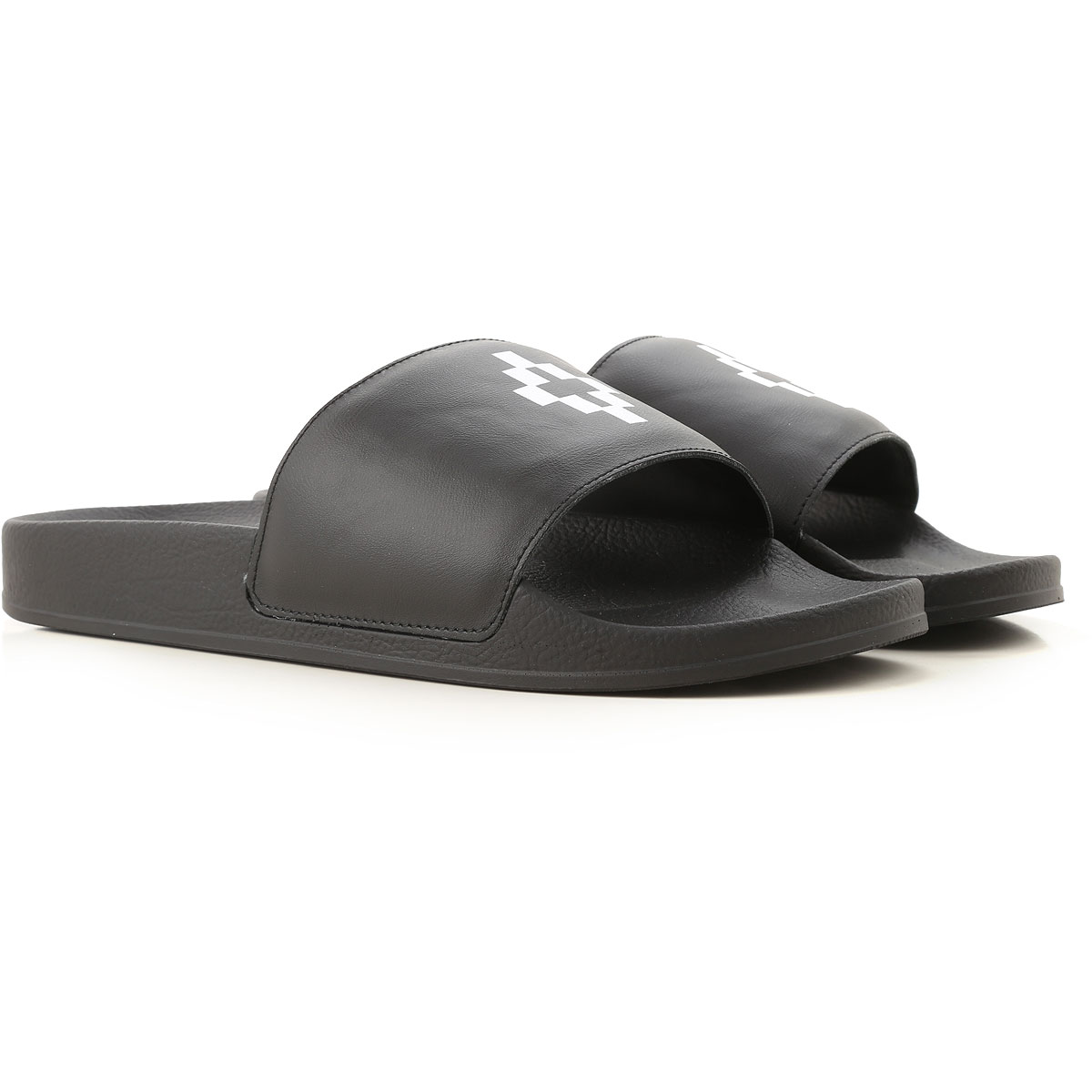 Image of Marcelo Burlon Flip Flops for Men, Black, Leather, 2017, 10 10.5 8 9