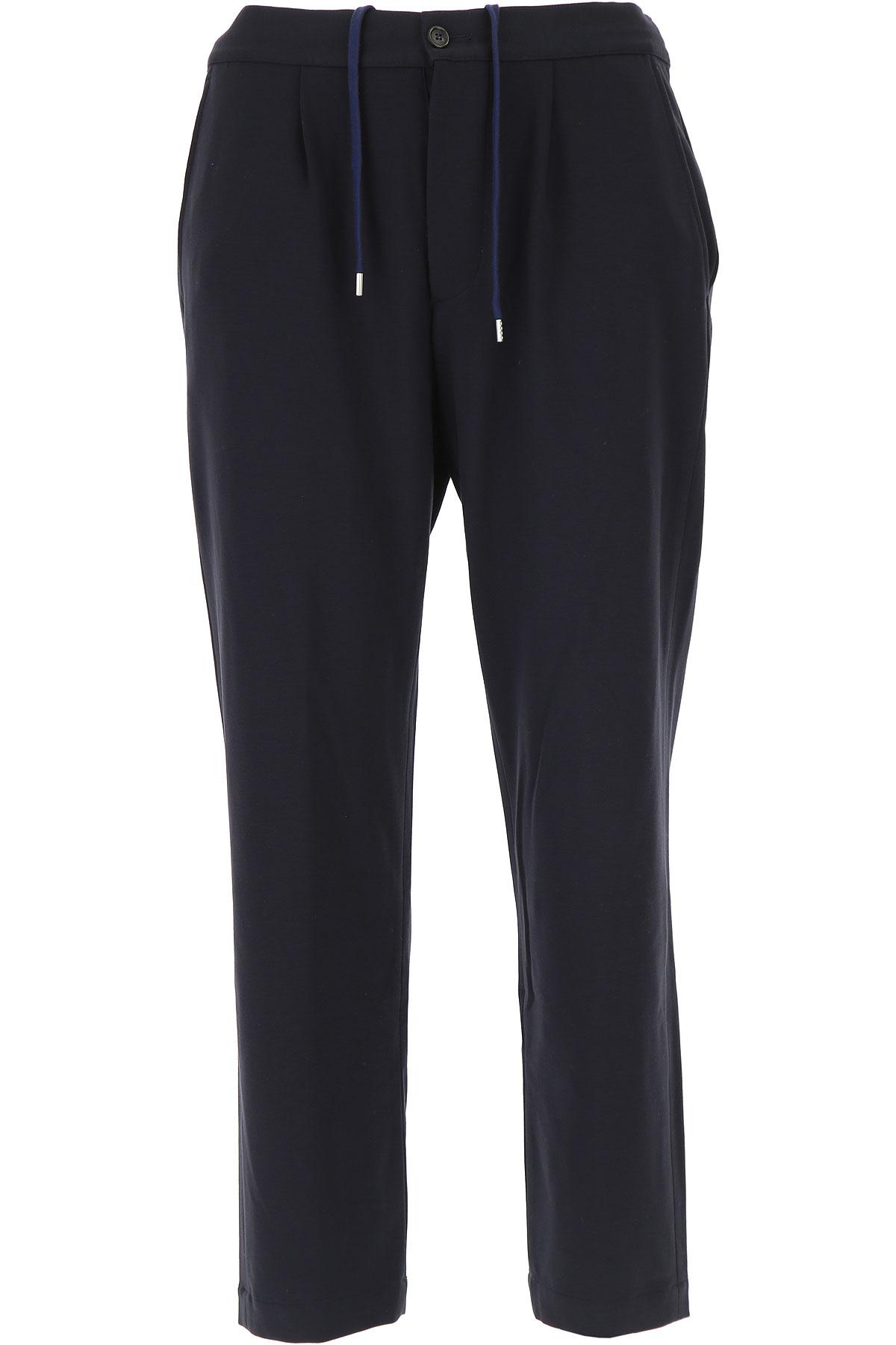 Image of Mauro Grifoni Pants for Men, Blue Navy, Viscose, 2017, 30 32 34