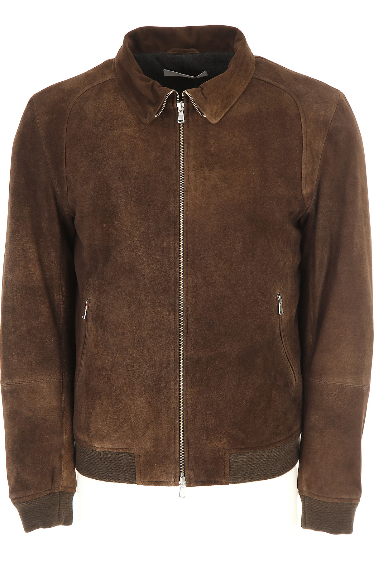 Image of Mauro Grifoni Leather Jacket for Men, Brown, Leather, 2017, L M