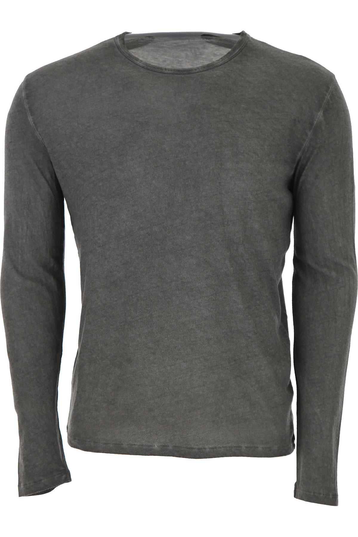 Image of Majestic Filatures T-Shirt for Men, Grey, Cotton, 2017, L M S XS