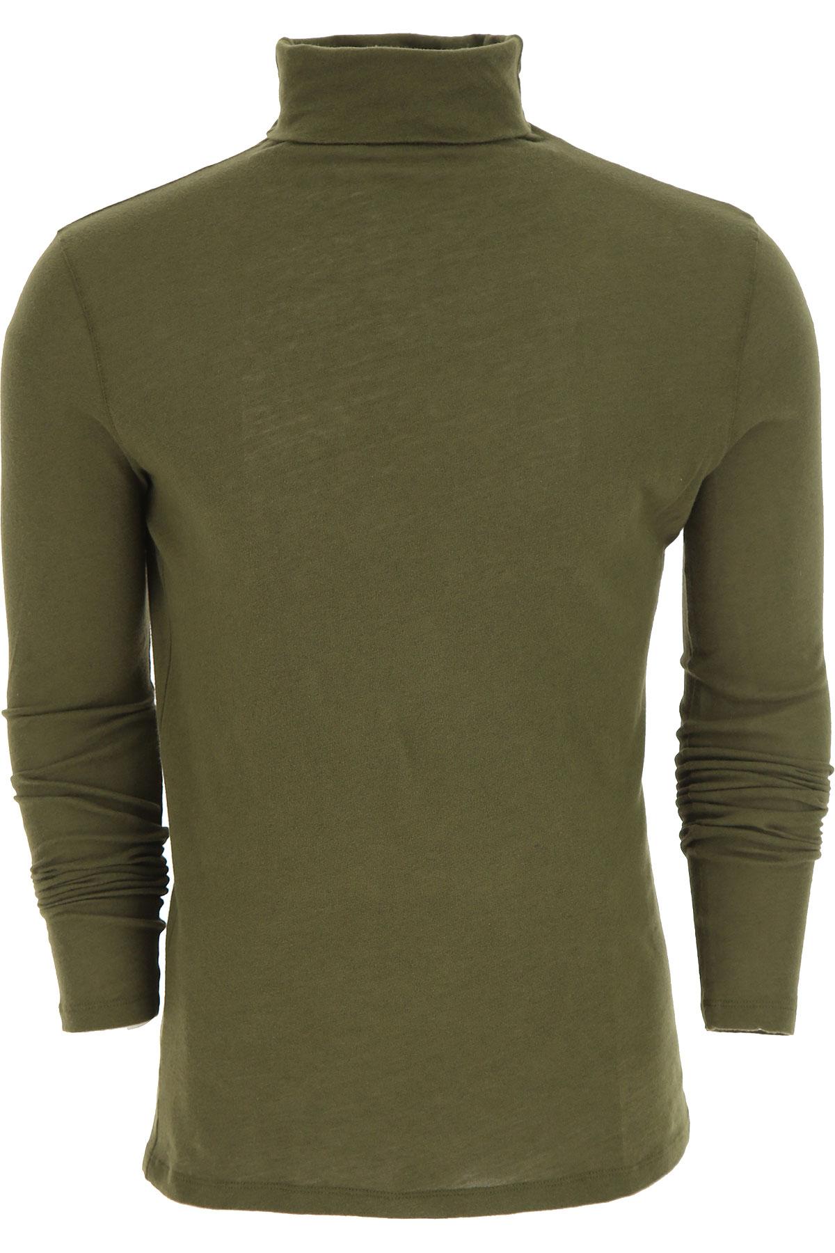 Image of Majestic Filatures T-Shirt for Men, Kaki, Cotton, 2017, L M XL