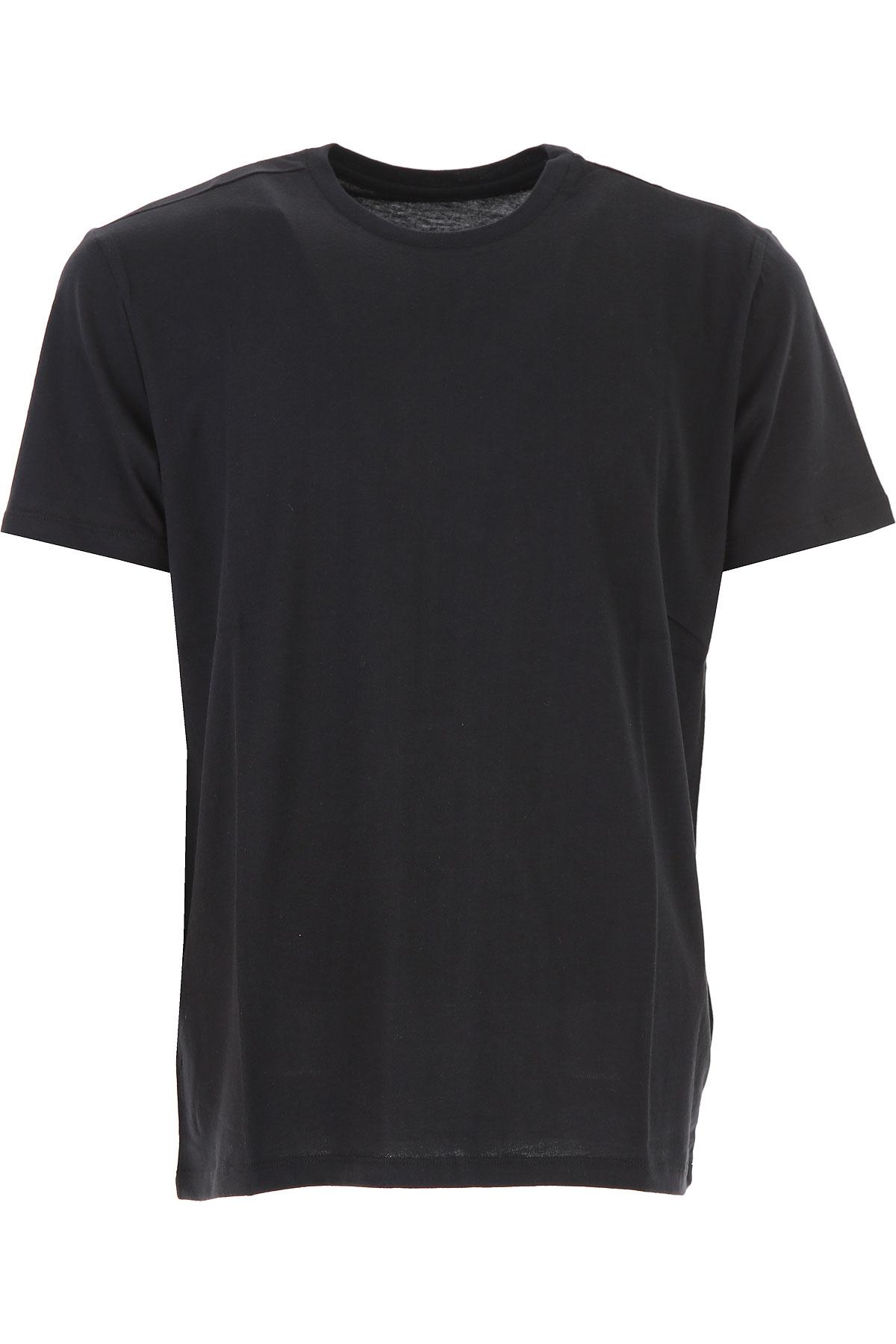 Image of Majestic Filatures T-Shirt for Men, Black, Cotton, 2017, L M