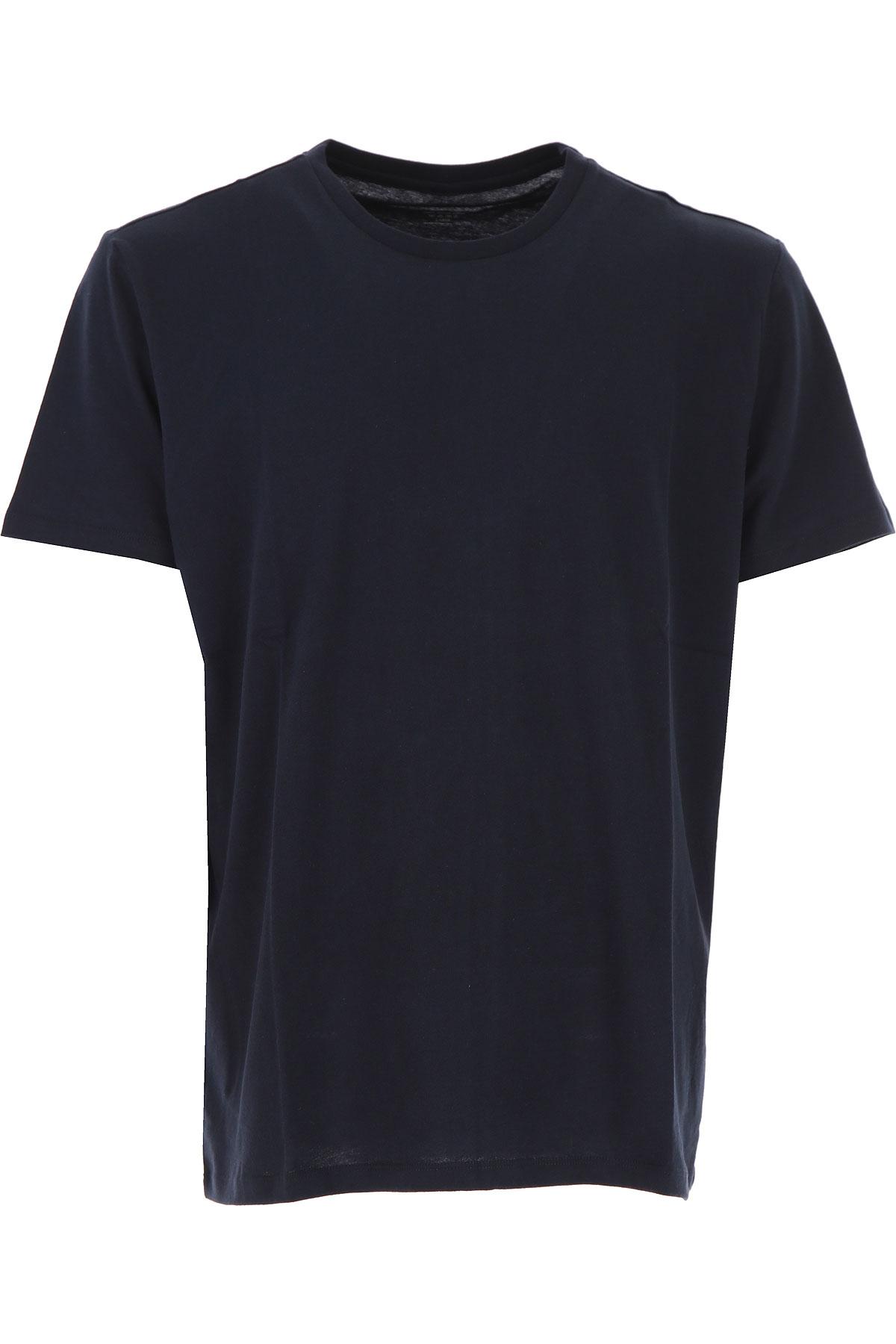 Image of Majestic Filatures T-Shirt for Men, Marine, Cotton, 2017, L M XL