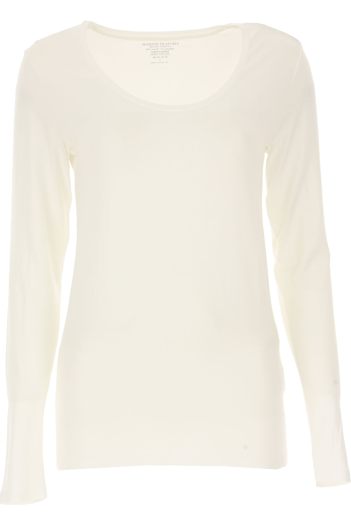 Majestic Filatures T-Shirt for Women On Sale, White, Viscose, 2019, 4 - XL - IT 46 2 - M - IT 42 3 - L - IT 44