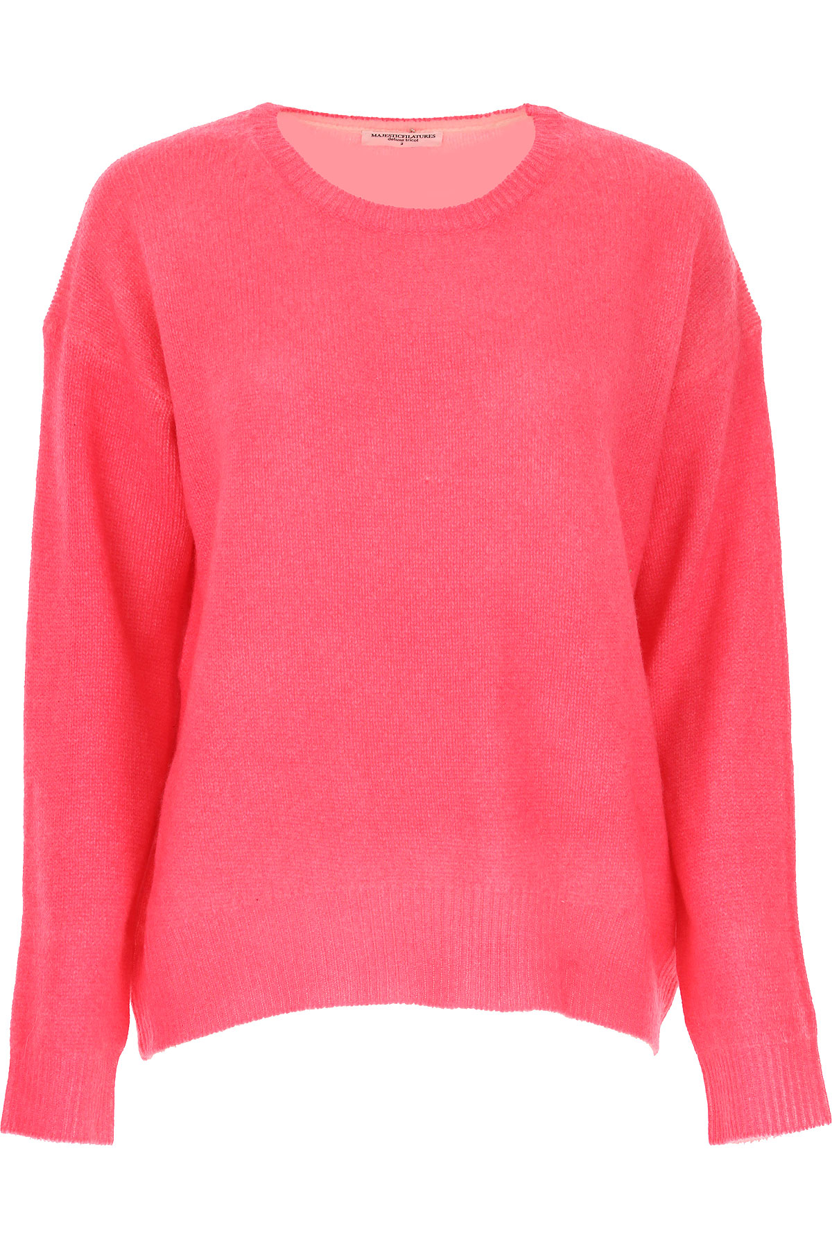 Image of Majestic Filatures Sweater for Women Jumper, Neon Pink, Cashmere, 2017, 4 6 8