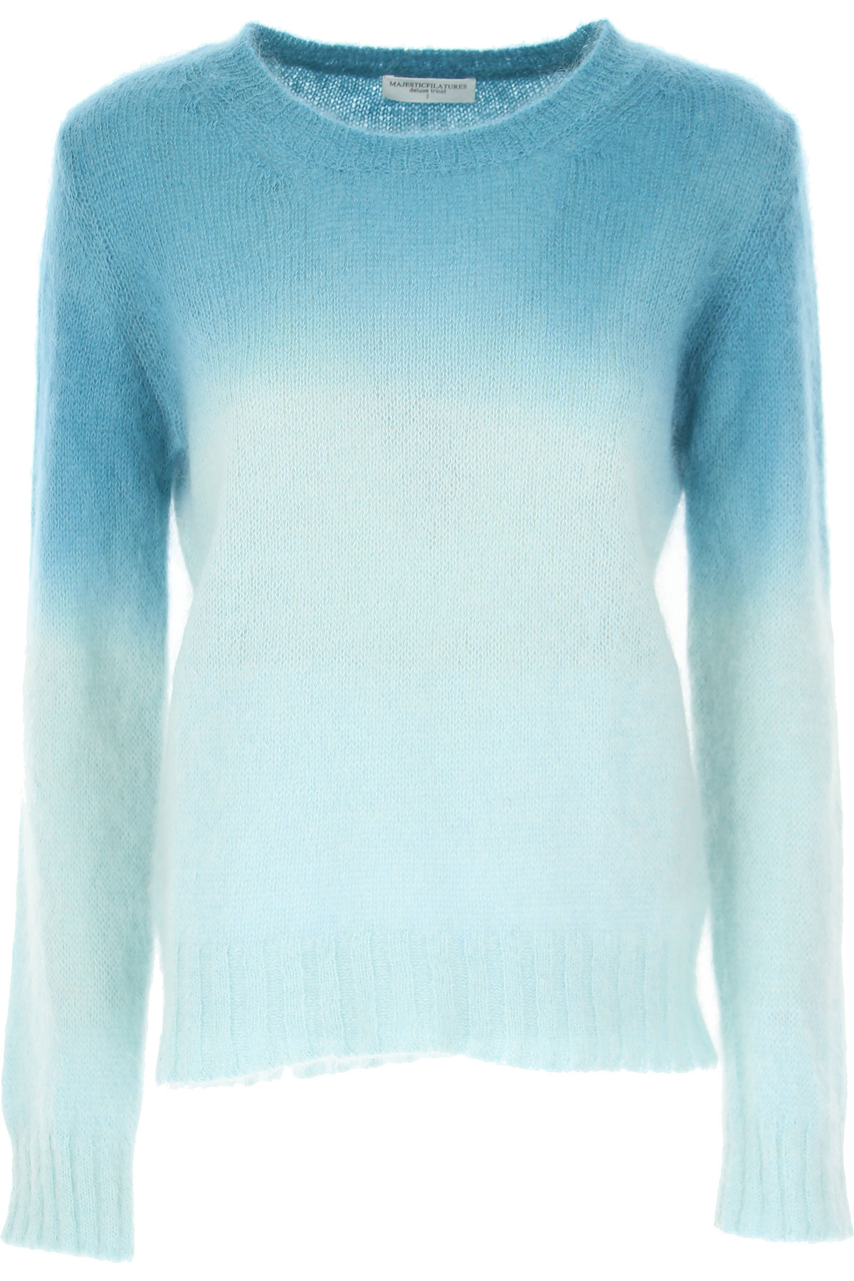 Image of Majestic Filatures Sweater for Women Jumper, Turquoise, superkid mohair, 2017, 4 6 8