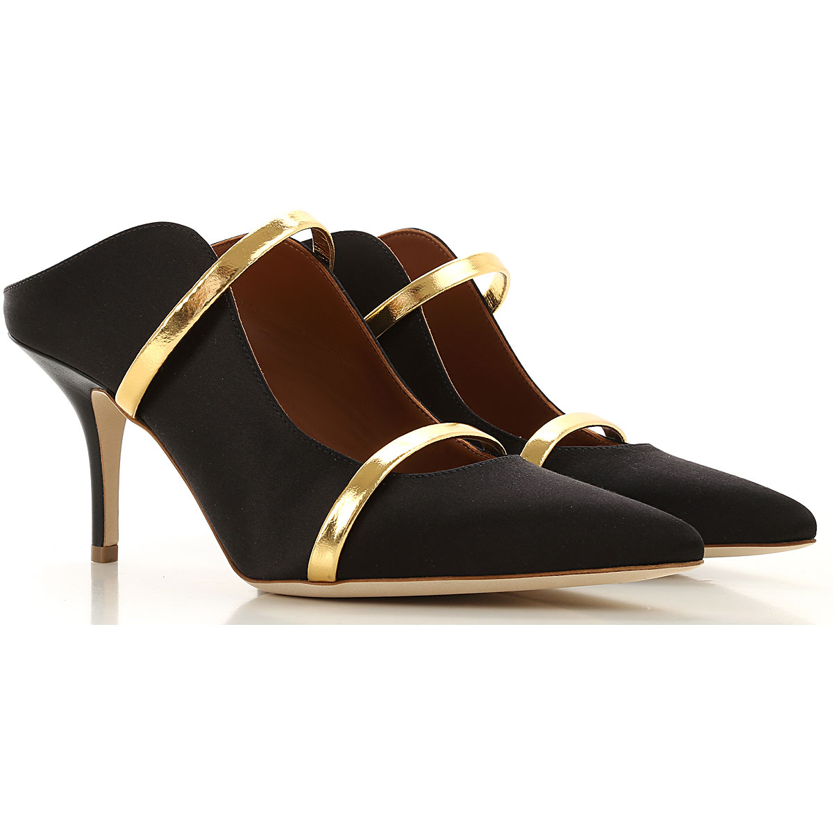 Malone Souliers Pumps & High Heels for Women On Sale, Black, satin, 2019, 6 7