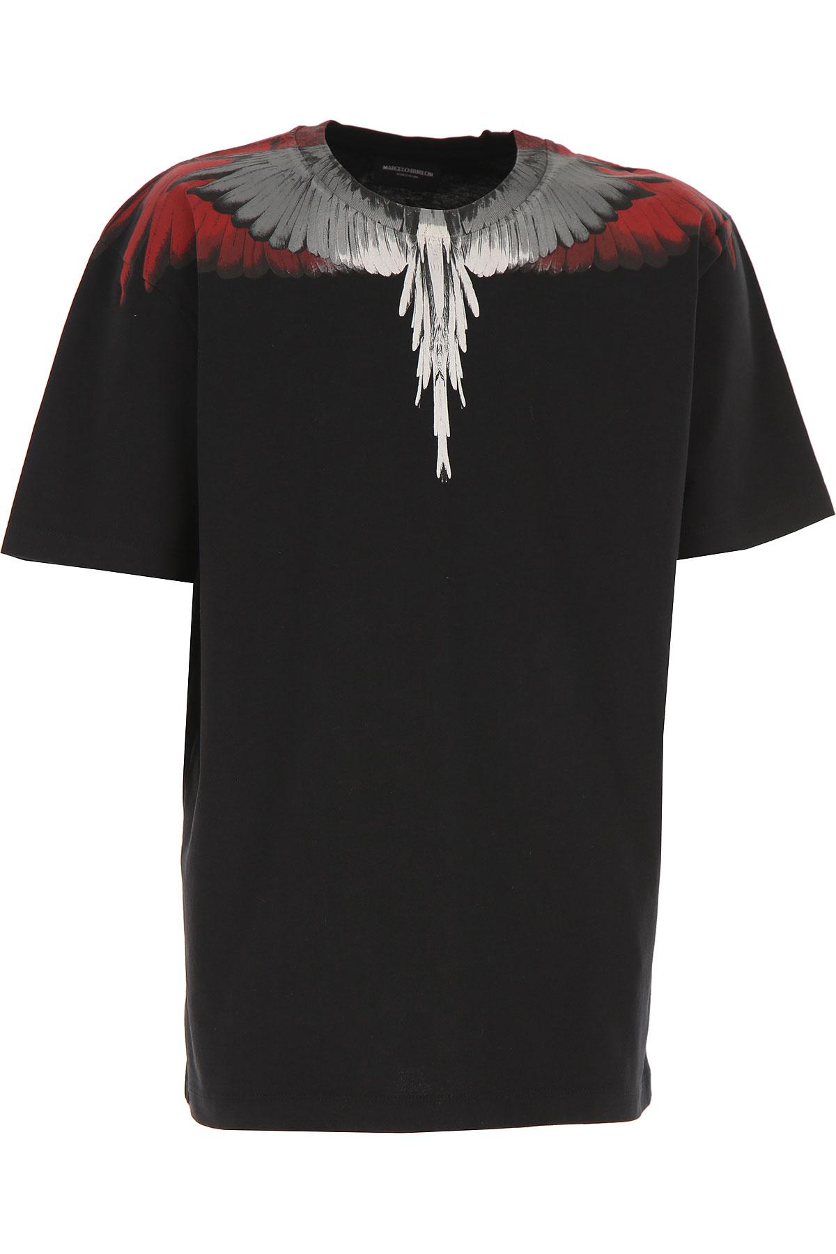 Marcelo Burlon Kids T-Shirt for Boys On Sale, Black, Cotton, 2019, 10Y 12Y 14Y 6Y 8Y
