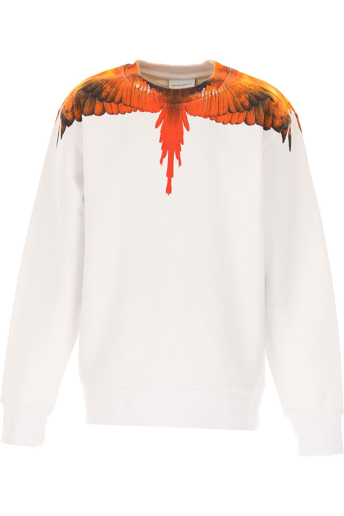 Marcelo Burlon Kids Sweatshirts & Hoodies for Boys On Sale, White, Cotton, 2019, 10Y 6Y 8Y