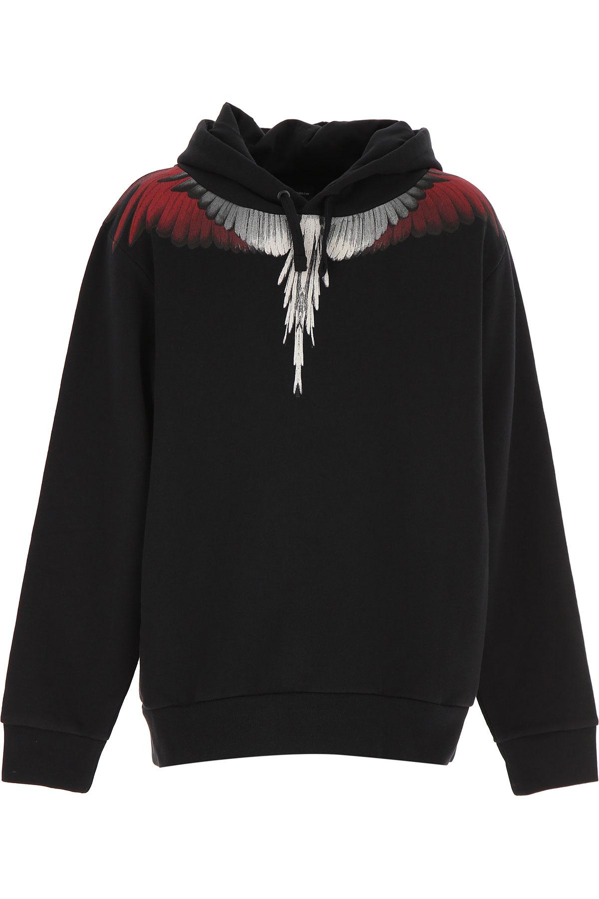 Marcelo Burlon Kids Sweatshirts & Hoodies for Boys On Sale, Black, Cotton, 2019, 10Y 12Y 6Y 8Y