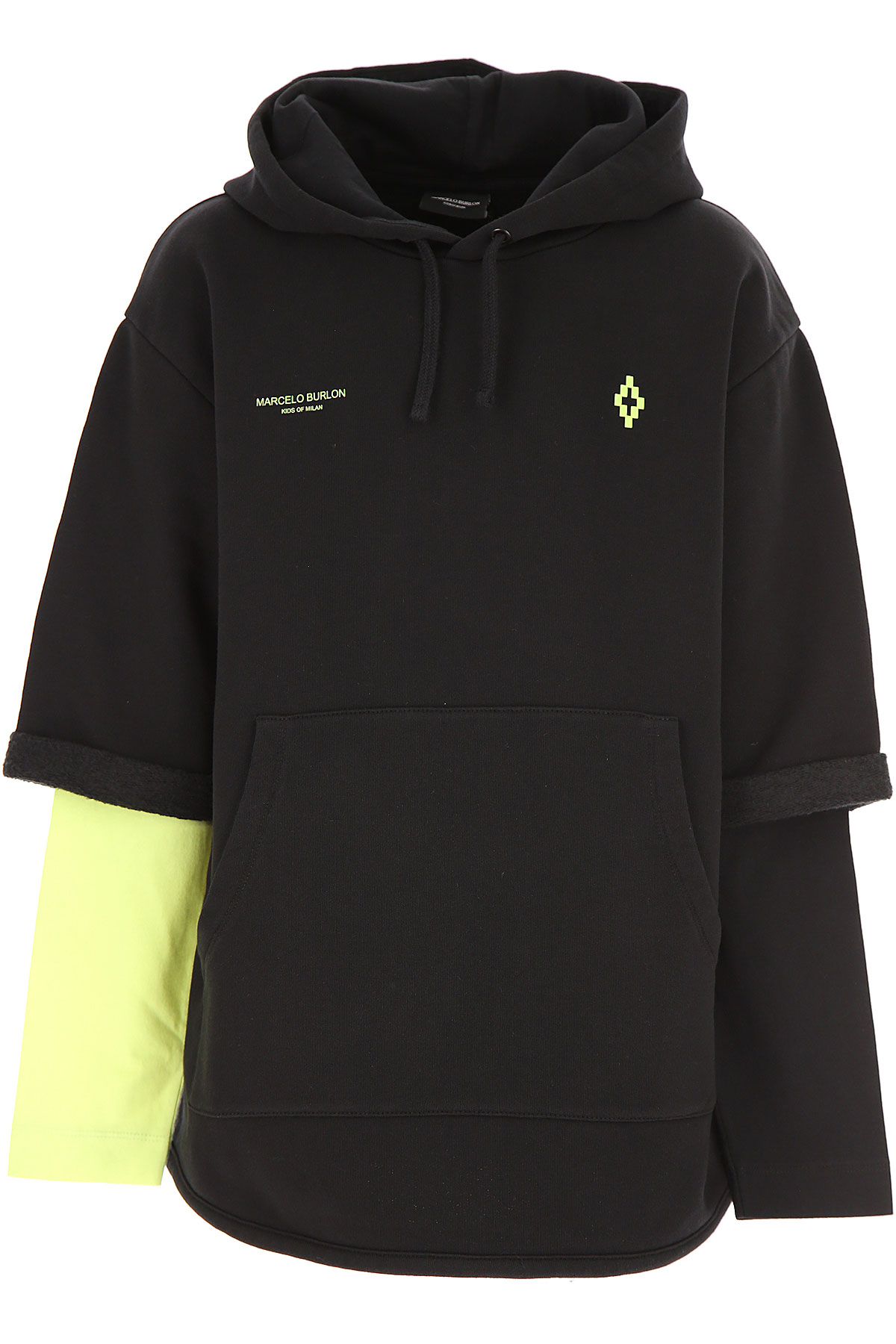 Marcelo Burlon Kids Sweatshirts & Hoodies for Boys On Sale, Black, Cotton, 2019, 10Y 12Y 8Y