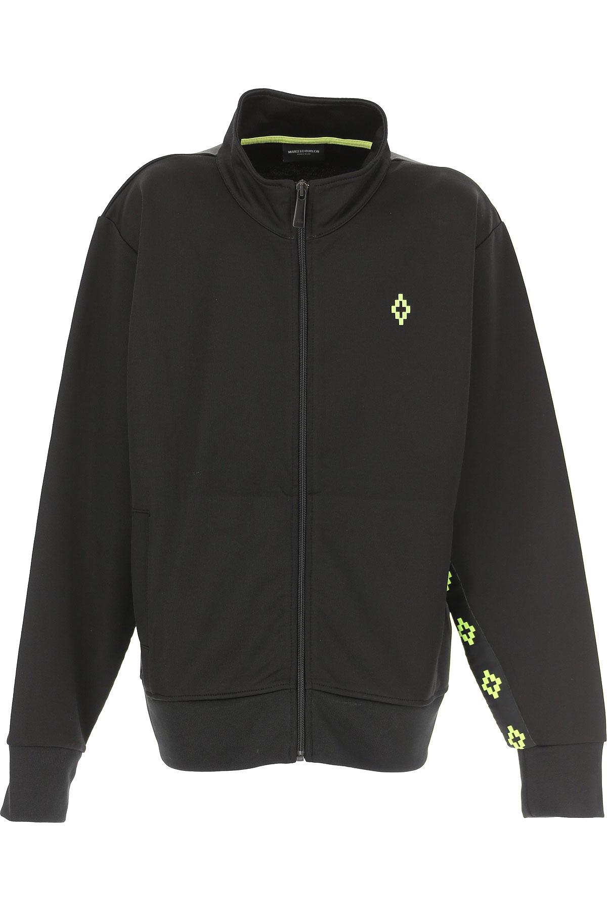 Marcelo Burlon Kids Sweatshirts & Hoodies for Boys On Sale, Black, polyester, 2019, 12Y 14Y 16Y