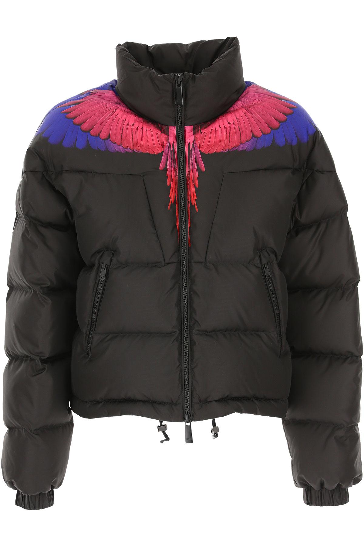 Image of Marcelo Burlon Down Jacket for Women, Puffer Ski Jacket, Black, Down, 2017, 2 6 8