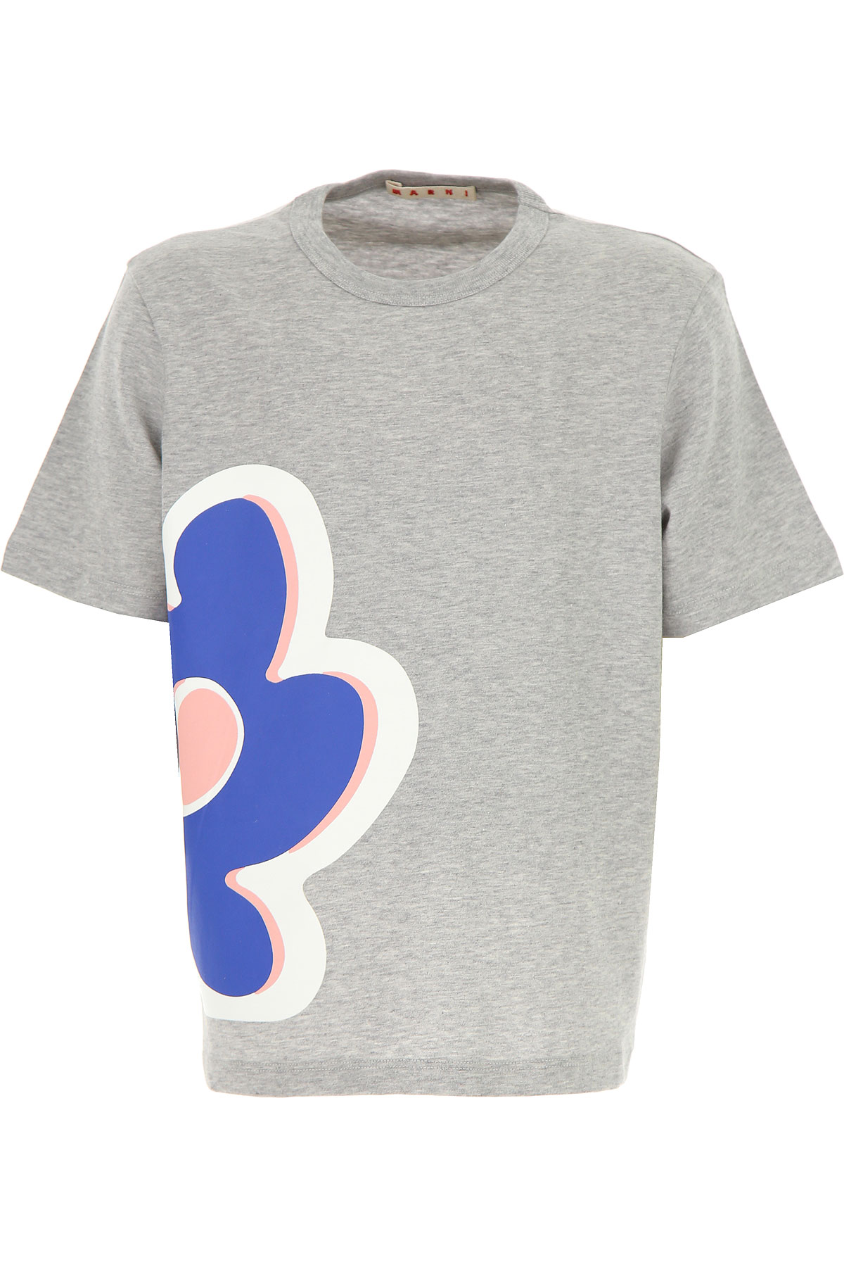 Image of Marni Kids T-Shirt for Girls, Grey, Cotton, 2017, 10Y 14Y 8Y